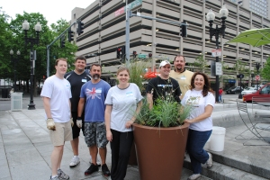 Thanks to our volunteers who helped with plantings in the Wharf District Parks